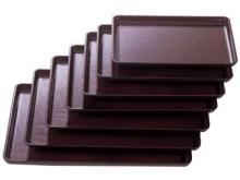 Plastic Rectangle Tray - non slip  Dark Brown