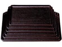 Plastic Bamboo Net design Rectangle Tray - 1.3 brown/non slip