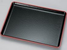 Plastic EBISU Tray - Black w/red line on top