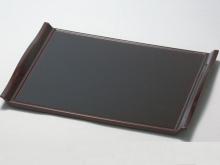 Non-slip Rectangle Tray - Dark Brown